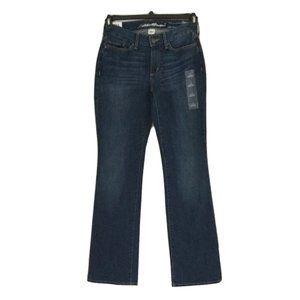EDDIE BAUER Mid Rise Curvy Boot cut Jeans Sz 0 & 2